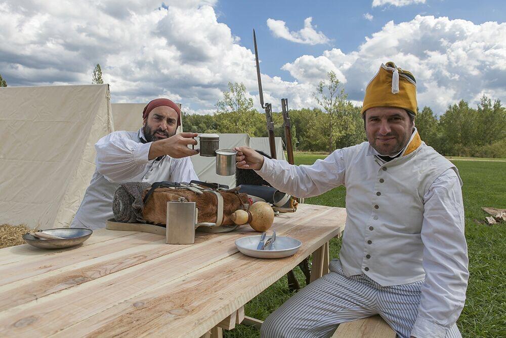 Campament napoleònic al Parc de les Ribes del Ter