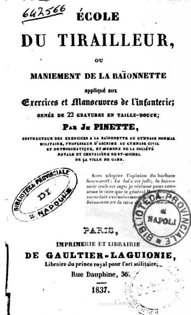 Pinette 1837 Premiere édition
