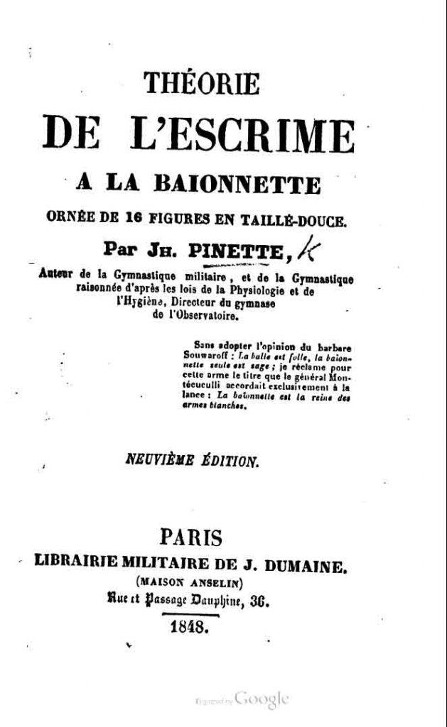 Pinette 1848 9ème édition